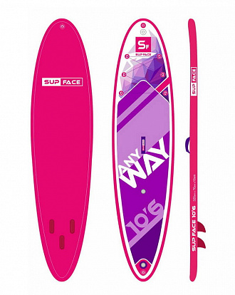 "SUP доска надувная SUP face 10'6"" Any way PINK"