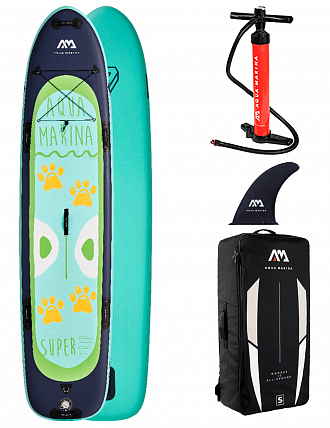 "Доска SUP надувная Aqua Marina 12'2"" Multi-person SUPER TRIP 2021"
