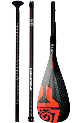 ВЕСЛО STARBOARD весло SUP ENDURO 2.0 TIKI TECH/HYBRID CARBON 3 PCS ADJUSTABLE S35 L