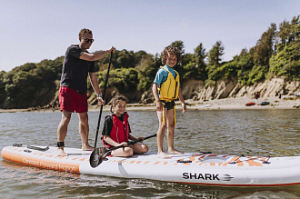 "Надувная SUP доска Shark 15'2"" Family вид 3"